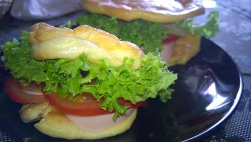 Oopsie Burger aus Ei